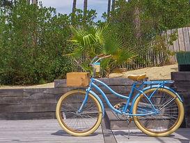 balades vélos cap ferret pistes cyclables océan surf nature hôtel