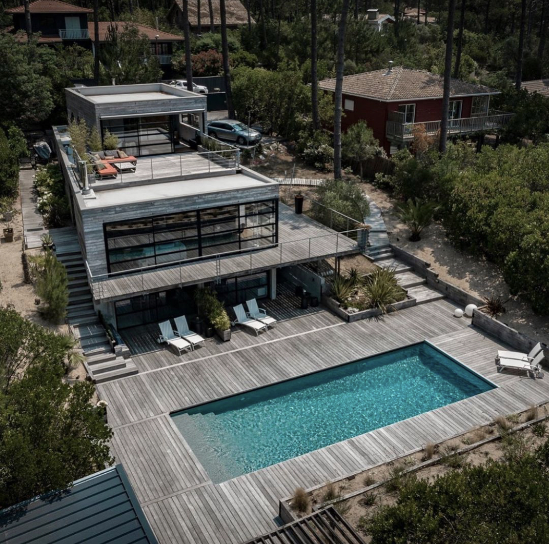 Vue drône La Villa Mogador