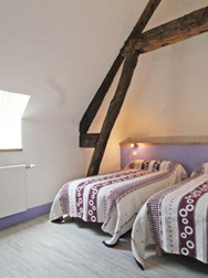 Chambre lits simples F3