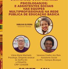 Live Psicólogos e Assistentes Sociais nas escolas
