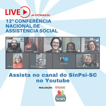 Live convoca à participação na Conferência Nacional de Assistência Social