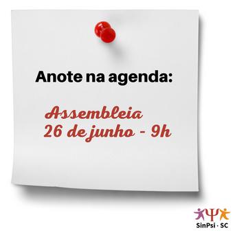 SinPsi-SC chama Assembleia Geral em junho