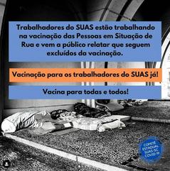 Vacinação para os trabalhadores do SUAS já!