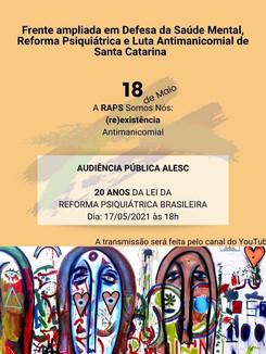18 de maio, dia nacional da luta antimanicomial