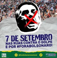 CUT convoca mobilização popular no 7 de setembro