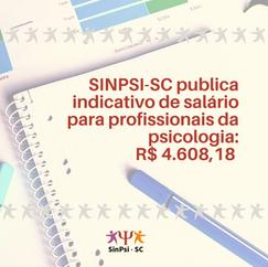 SINPSI-SC indica piso de R$ 4.608,18 para profissionais da psicologia