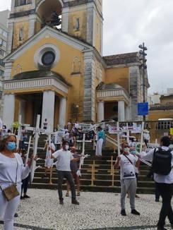 Atos por Fora Bolsonaro e vacina já para todos marcaram Dia Mundial da Saúde em SC