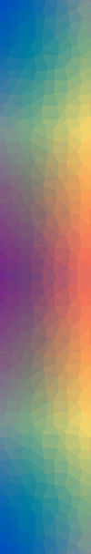 Geometric shapes and rainbow coloured sidebar