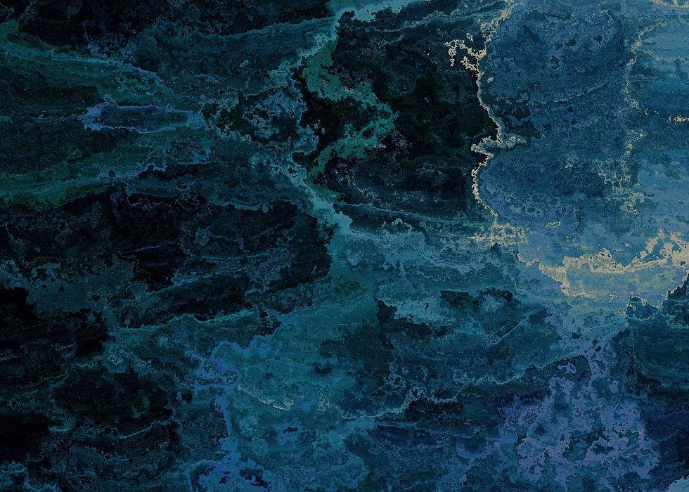 Blue, black & green quartz background