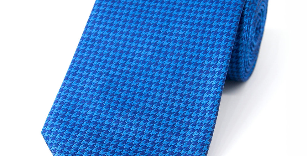 Houndstooth Blue Woven