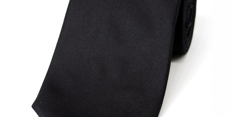 Onyx Black Plain Woven