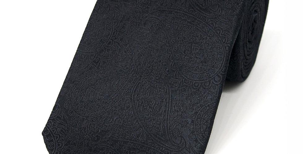 Paisley Black Woven