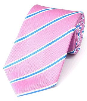 Pink + Blue Stripe Woven