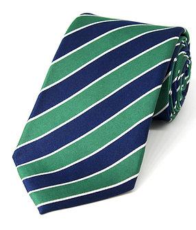 Green + Navy Preppy Stripe Woven