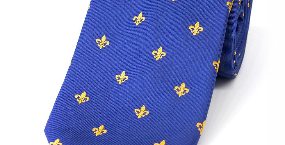 Blue Fleur-de-Lys Woven