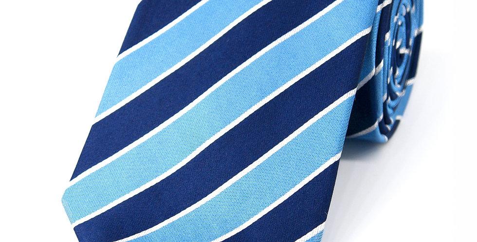 Blue + Navy Preppy Stripe Woven