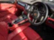 Porsche red leather interior