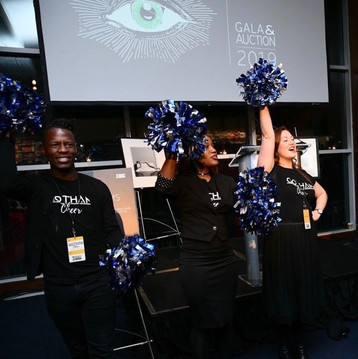 Gotham Cheer cheering for crowd at Bailey House Gala Event 2019