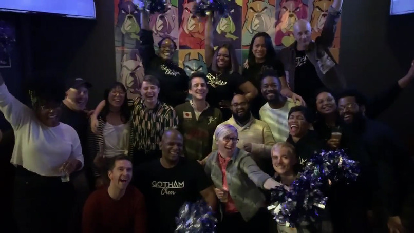 Gotham Cheer with True Colors United at Boxers Chelsea for Check Presentation Event 2019