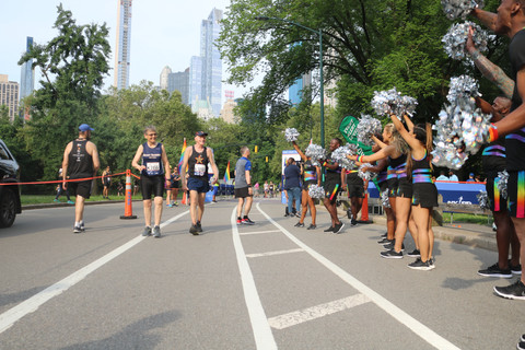 Gotham Cheer at the LGBT Pride Run with Front runners New York