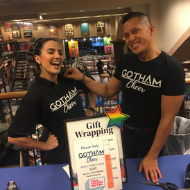 gotham cheer wrapping holiday presents for holidays at Barnes and noble