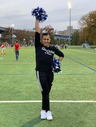 gotham cheer cheerleader at Gotham Knights Rugby Match