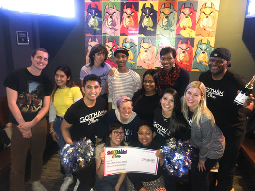 Gotham Cheer with True Colors United at Boxers Chelsea for Check Presentation Event 2020