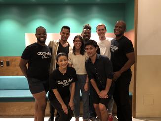 Gotham Cheer Volunteers with True Colors United sttaff preparing for Impact Summit 2019