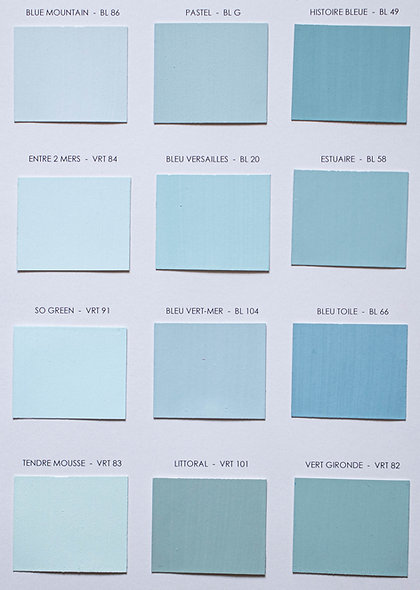 Les bleus clairs
