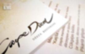 Digitālā druka - ēdienkartes, ēdienkaršu maketu izstrāde.