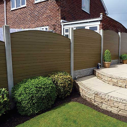 """Composite Fencing in """"Natural"""""""