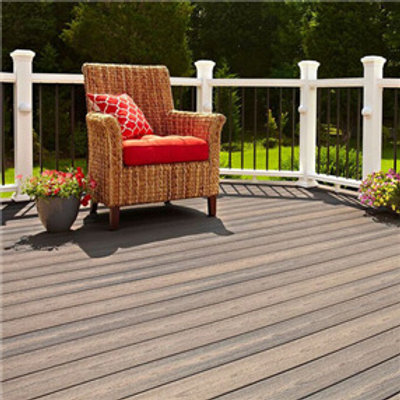 "Composite decking in ""Latte"""