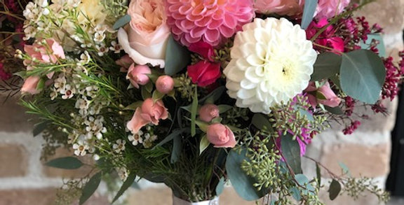 Bouquets: A little whimsy, a little bit structured.