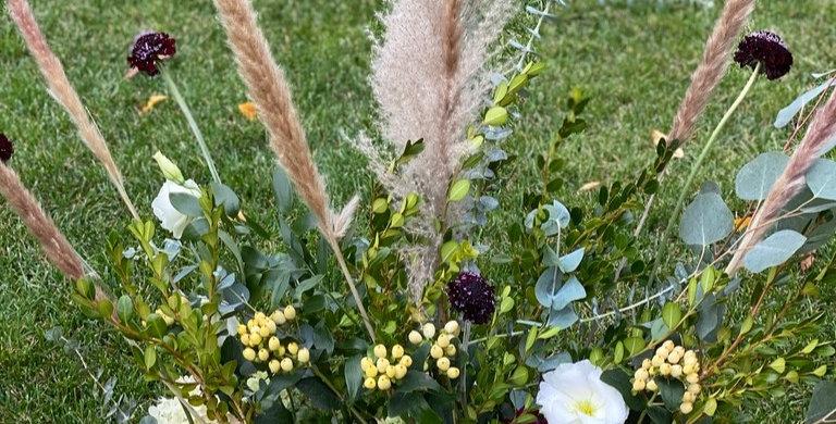 Pompas grass Centerpiece