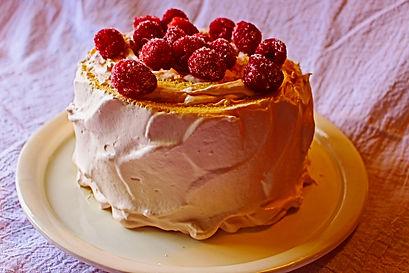 rapberry chiffon cake roll