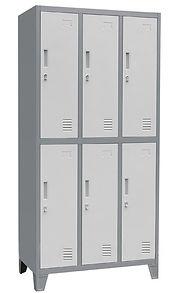 Locker Metálico de 6 puertas