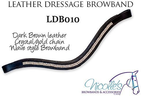 Leather Wave Browband