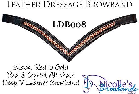 Leather Deep V Browband