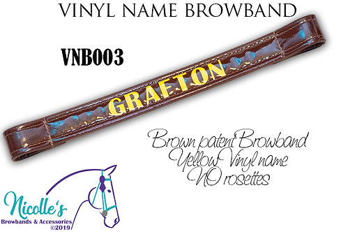 Vinyl Name Browband - BASIC