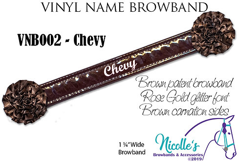 Vinyl Name Browband -STANDARD