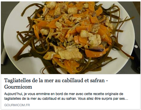 I sea pasta de Seamore dans Gourmicon.fr