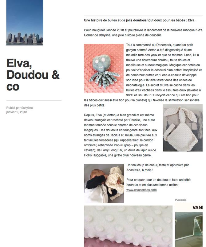 Elva dans le blog 9skyline : https://9skyline.com/2018/01/09/elva-doudou-co/