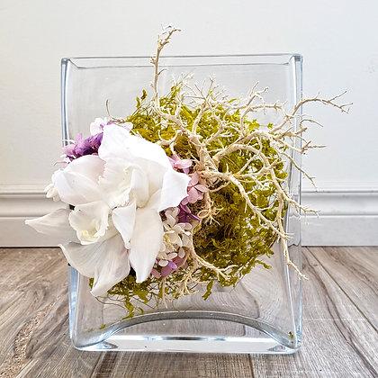 UN-0205 White Orchid Sanwee Vine Arrangement