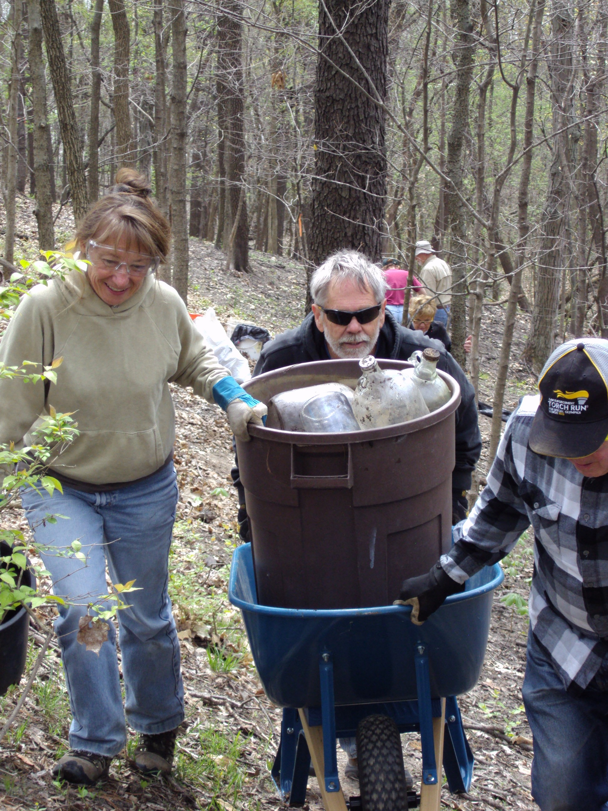 Removing Trash from Nature Preserve