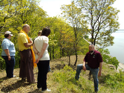 Studying Remnant Bluff Prairie