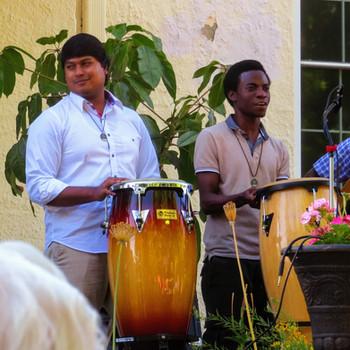 Novices drumming