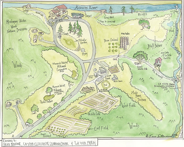 Map of the La Vista Grounds