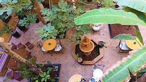 El Jadida jardim interno do riad (Medium