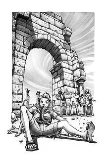 10 - Basílica de Volubilis com serpente