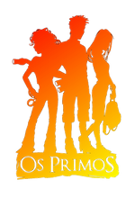 Logo Os Primos inteiro laranja gradient